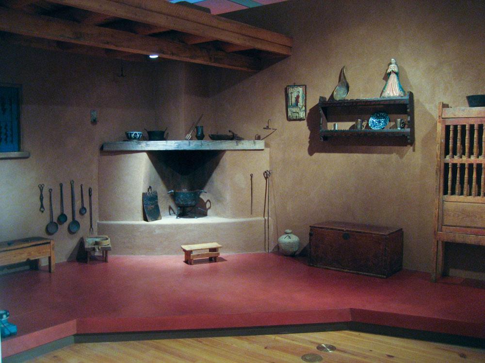 New world cuisine kiva fireplace installation design by for Cuisine installation